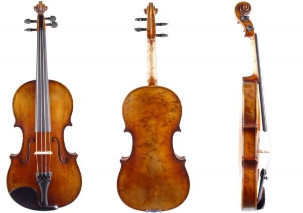 Set mit Geige Atelier Walter Mahr 2018 Bogen Etui Schulterstütze