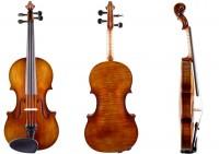 Set: Geige 4/4 Stradivari-Modell Walter Mahr mit Bogen, Etui, Schulterstütze