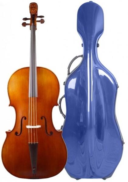 Celloset: Feines Barockcello von W. Mahr, Koffer, Bogen