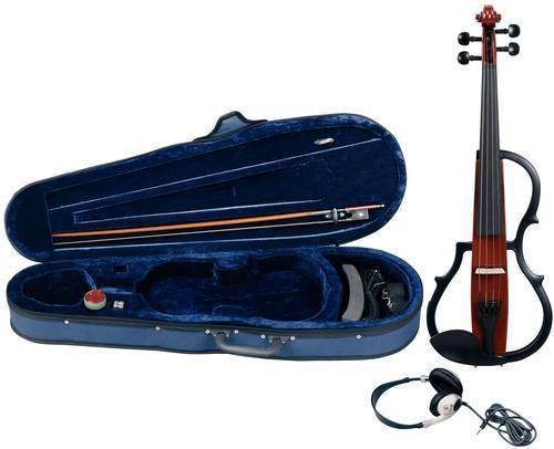 Geigenset mit E-Geige GEWA Line Rotbraun