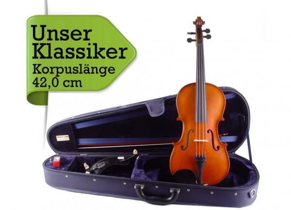 Bratschenset: Viola mit Koffer Bogen Schulterstütze 42,0 cm