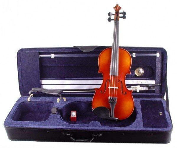 Karl Höfner 3/4 Geige im Set mit Carbondix*** Kun Schulterstütze