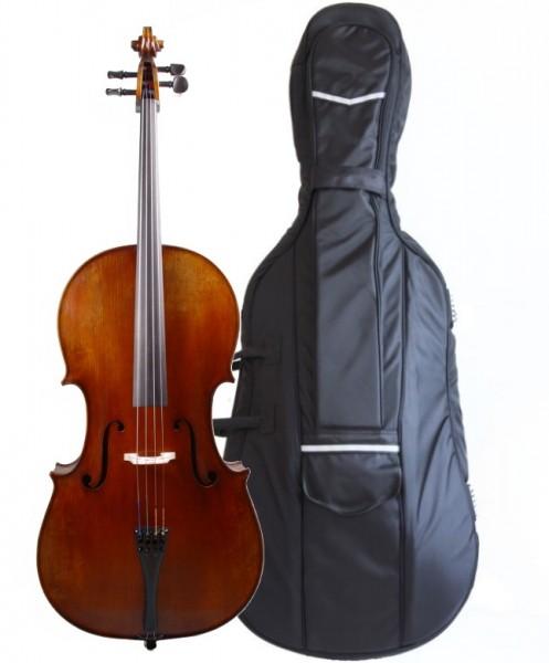 Set: Cello aus Bubenreuth 2017 4/4-Größe mit Tasche Carbonbogen