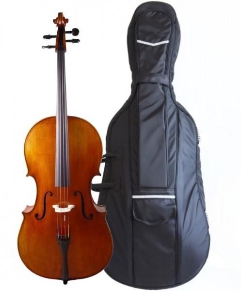 Set: Cello von Walter Mahr, Cellotasche, Carbonbogen 4/4 Größe