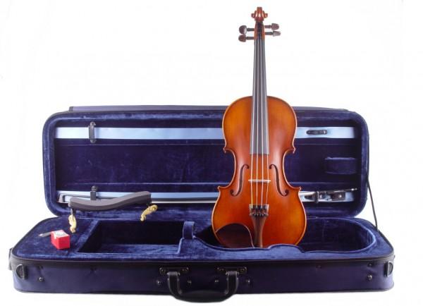 Geige aus dem Atelier Walter Mahr im Set mit Etui Bogen
