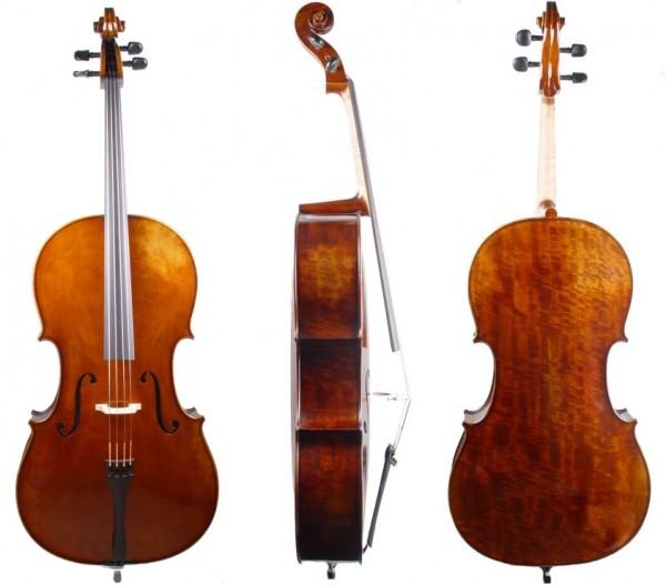 Cello von Geigenbaumeister Walter Mahr - Pappelboden