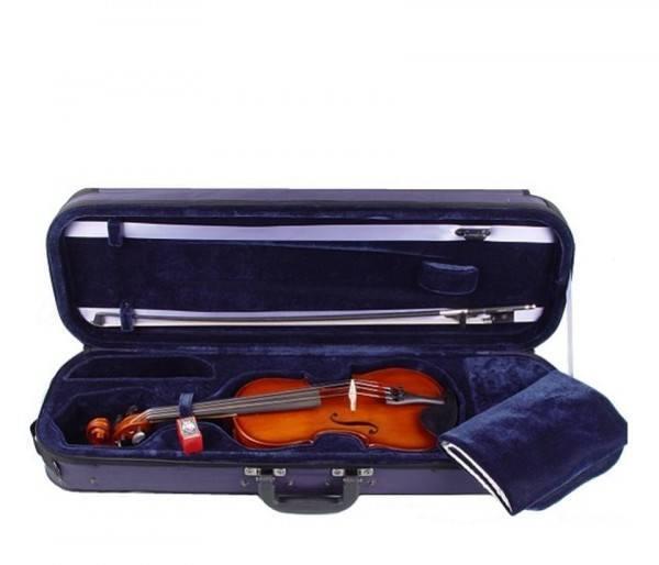 Set: Geige in 1/4 Größe mit Bogen Schulterstütze Koffer Kolophonium