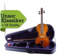 Geigenset 1/16 Größe mit Etui Bogen Schulterstütze