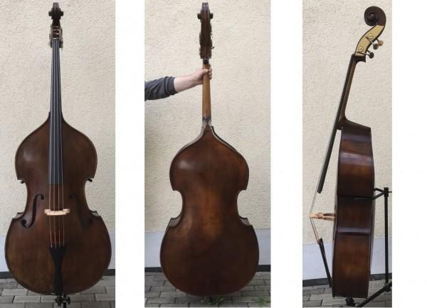 Kontrabass von Emanuel Wilfer in Gambenform Meisterbass-1