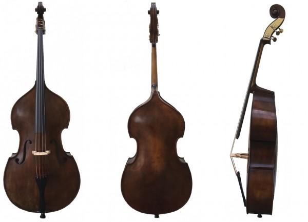 Meisterbass von Emanuel Wilfer in Gambenform Meisterbass