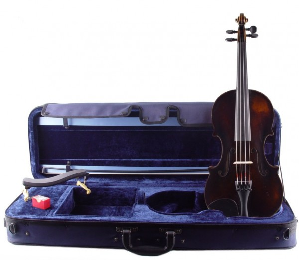 Top Set: Violine von Walter Mahr komplett mit Bogen, Koffer, Schulterstütze