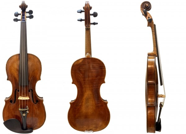 Geige mit Zettel Zanoli-1
