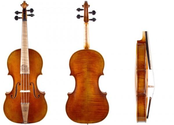 Barockgeige mit Löwenschnitzerei Geige24-1