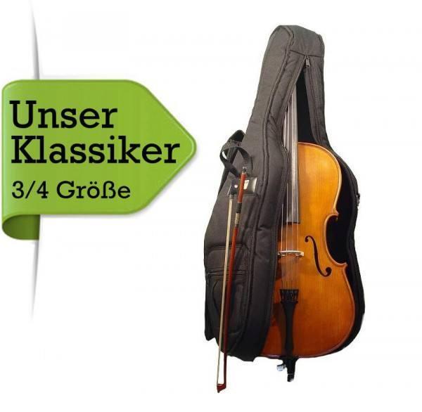 Celloset: Cello mit Gig Bag Bogen Kolophonium 3/4 Größe