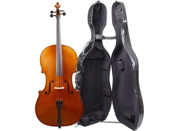 Set Cello 4/4 - gehobene Qualität - Walter Mahr Koffer Bogen