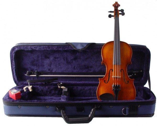 Violine W Mahr im Set mit Etui Bogen Schulterstütze 1/8 Größe